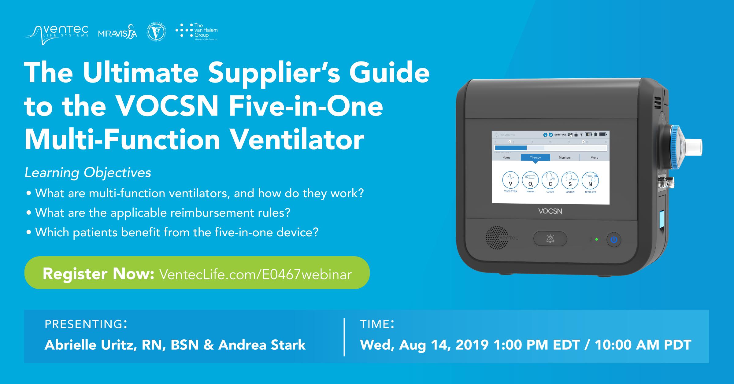 Multi-Function Ventilator (HCPCS: E0467) | Ventec Life Systems